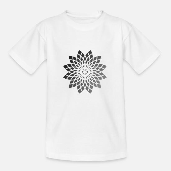 Gift Idea T-Shirts - Geometric flower - Kids' T-Shirt white