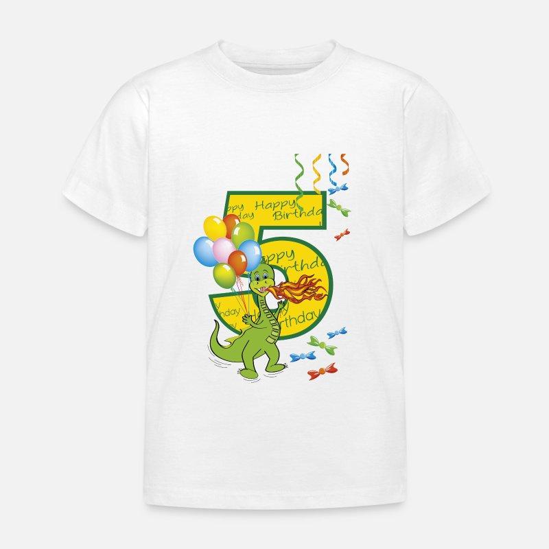 fünften geburtstag kind 5 jahre drachen 01 kinder tshirt