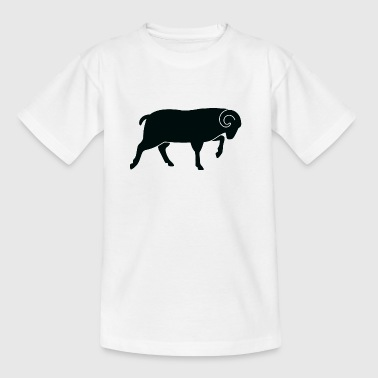 A running ram - Kids' T-Shirt