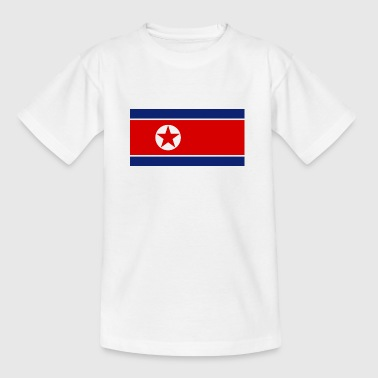 Nationalflagge von Nordkorea - Kinder T-Shirt