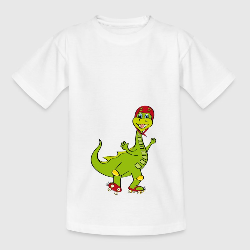 pattinaggio a rotelle con draghetto - T-shirt Enfant
