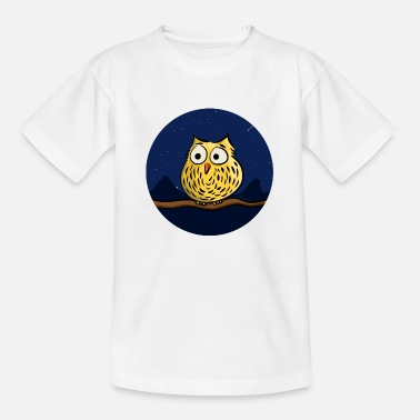 Comic Eule Cute owl at night - Kinder T-Shirt