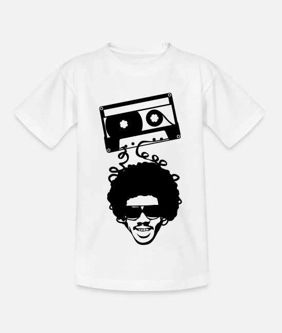 Rap T-Shirts - Afro Tape - Kinder T-Shirt Weiß