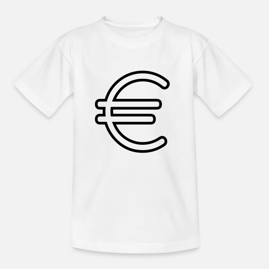 Politics T-Shirts - Euro sign - Kids' T-Shirt white