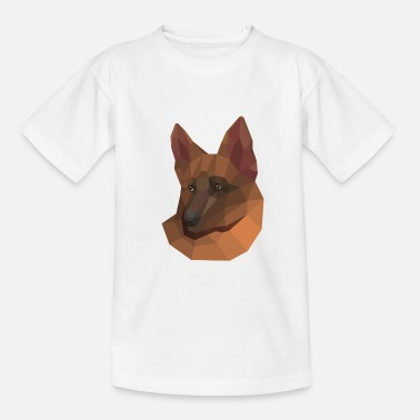 Dog low poly - Kids' T-Shirt