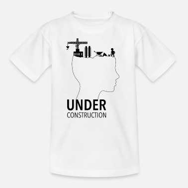 Pubertät Brain Under Construction | Adolescence - Kinder T-Shirt