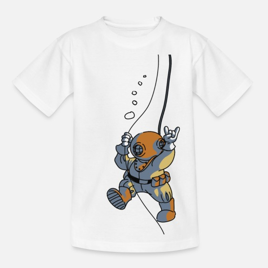 Plongée T-shirts - diver old fashioned - T-shirt Enfant blanc