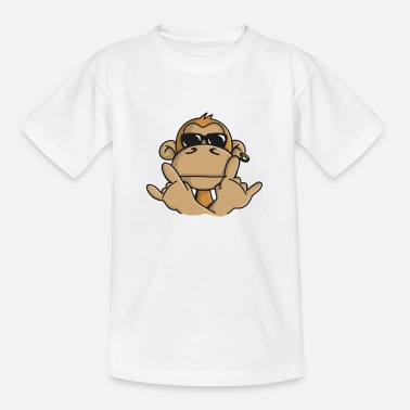 Monkey Cool monkey with sunglasses - Kids' T-Shirt