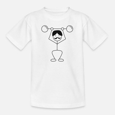 Stick Figure Stick figure training - hipster strength training - Kids' T-Shirt