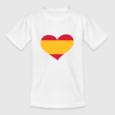 Flag Balearic Islands Spanien Herz; Heart Spain - Kids' T-Shirt