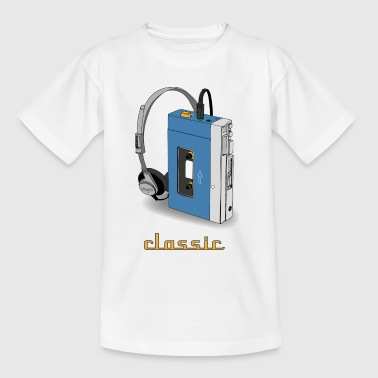 CLASSIC-WALKMAN retro design, blå - T-skjorte for barn