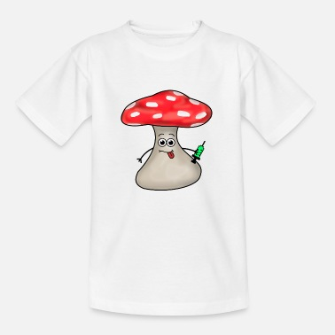 Toadstool with lethal injection Mushroom Mushroom picker nature - Kids' T-Shirt