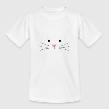 Cartoon kat gezicht - kat - cartoon - Kinderen T-shirt