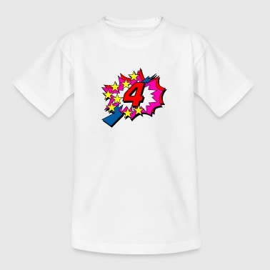 POP Star is 4 years old - Kids' T-Shirt