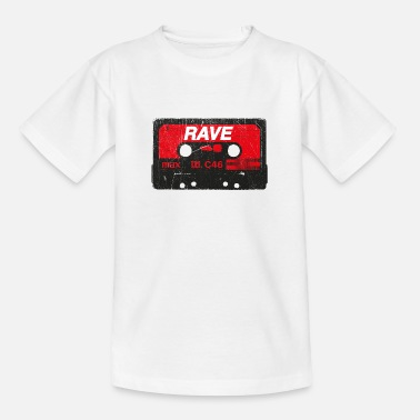 Synthesizer Rave Vintage Cassette - Techno Acid Synth Nerd 80s - Kids' T-Shirt