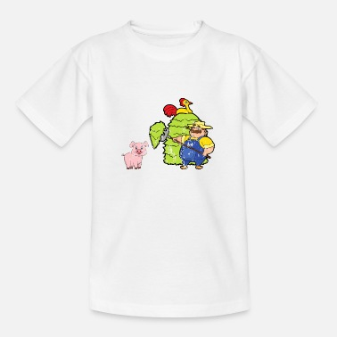 Comics Retro Vintage Grunge Style Farm Farmer - Kids' T-Shirt