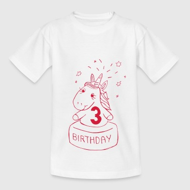 Third Birthday Unicorn - Kids' T-Shirt