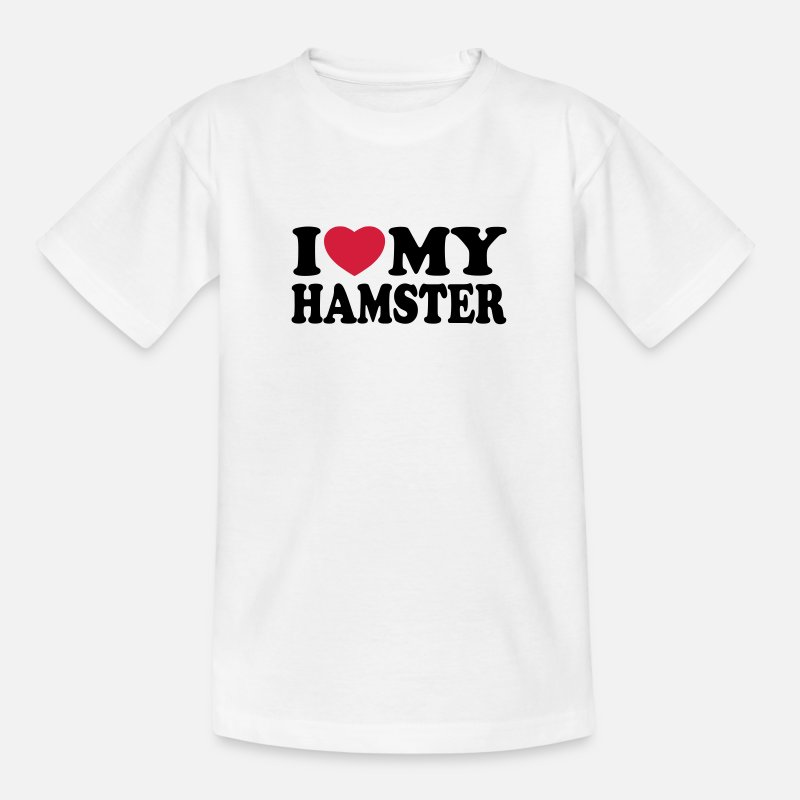 Hamster T-Shirts - I love my hamster - Kids' T-Shirt white