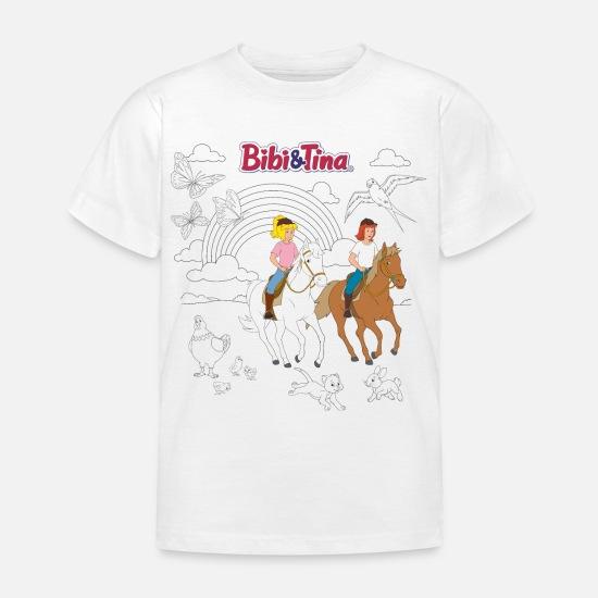 bibi und tina motiv zum ausmalen kinder tshirt  spreadshirt