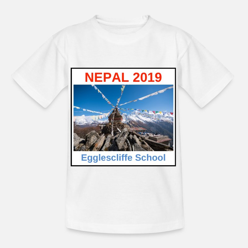 School T-Shirts - Nepal Egglescliffe School T-shirt Version 1 - Kids' T-Shirt white