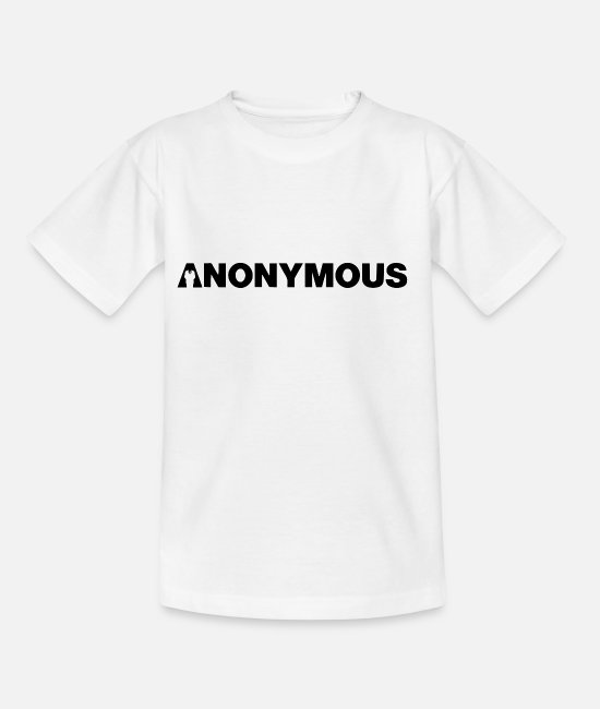Obey T-Shirts - Anonymous - We are legion - Expect us - Shirt - Kids' T-Shirt white