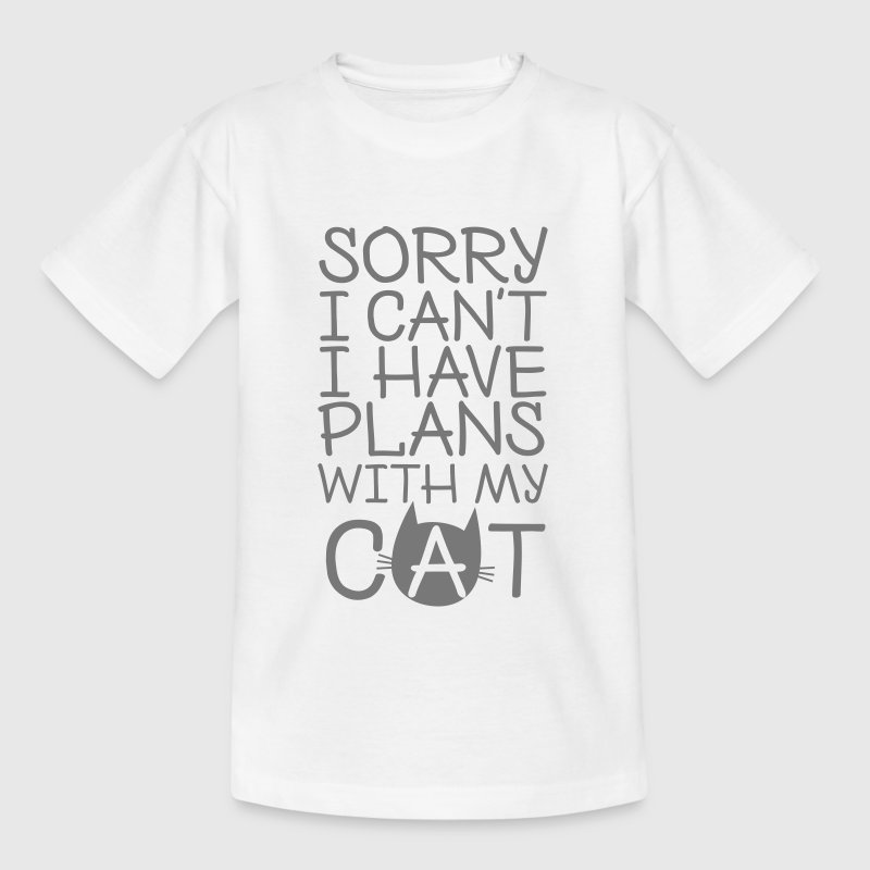 Sorry I Can't I Have Plans With My Cat - Kinder T-Shirt