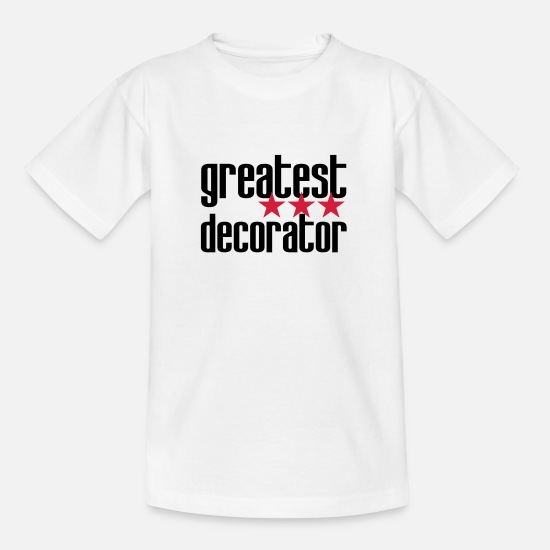 Decoratie T-shirts - ontwerper decorateur versierd architect decoratie - Kinderen T-shirt wit