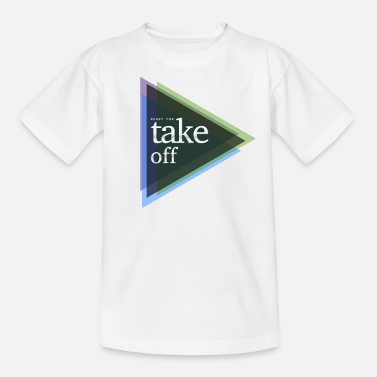 Take T-Shirts - ready for take-off - Kinder T-Shirt Weiß