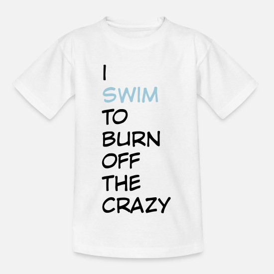 Swimming T-shirts - schwimmen - T-shirt barn vit