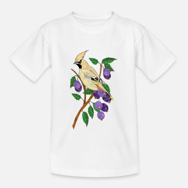 Plum Colorful bird - Kids' T-Shirt