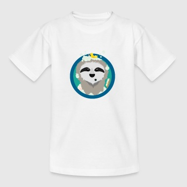 Bathing sloth with soap bubbles - Kids' T-Shirt