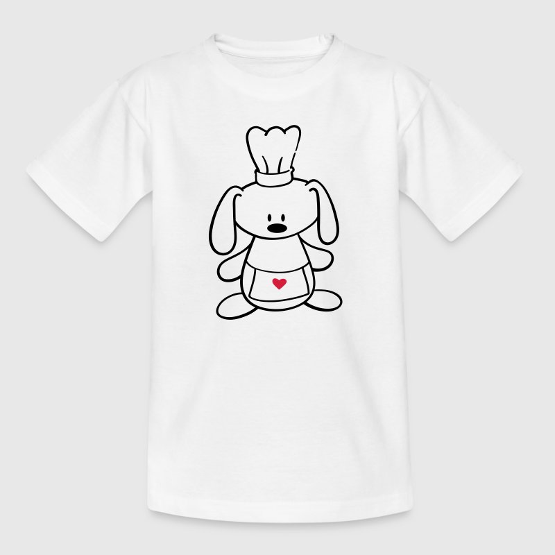 A cute rabbit cooks - Kids' T-Shirt
