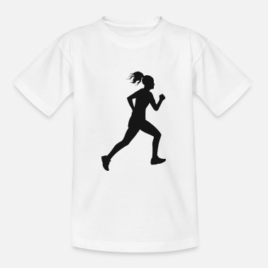 Runner jogging silhouette - Kids' T-Shirt