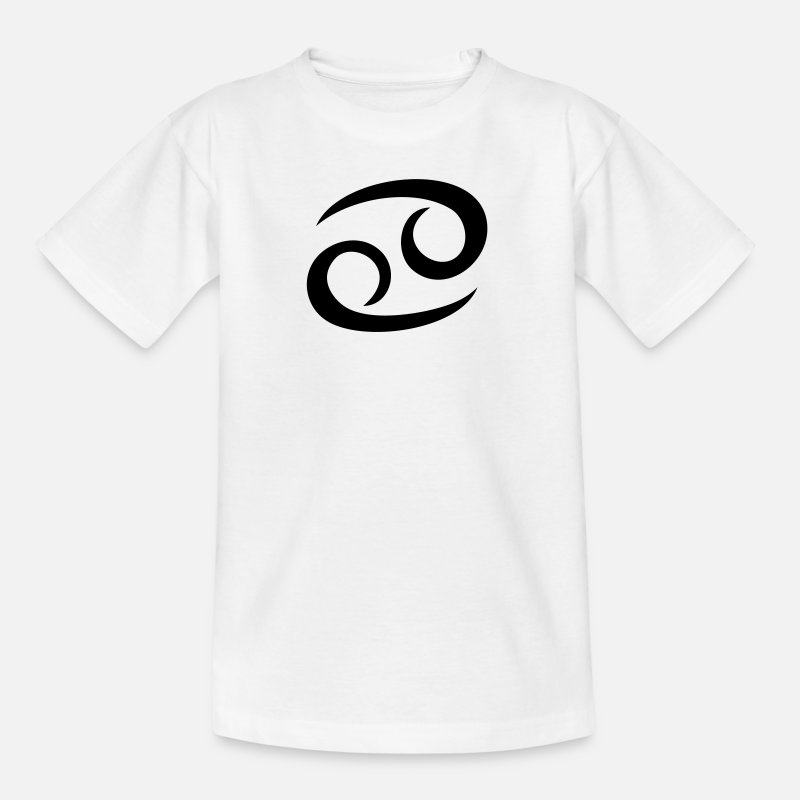 Astrologie T-Shirts - Cancer - Kreeft - Kanker - Kinderen T-shirt wit