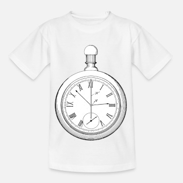 Vintage Taschenuhr Old School Retro Design - Kinder T-Shirt