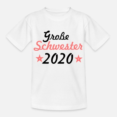 Grosse Schwester 2020 pink - Kinder T-Shirt