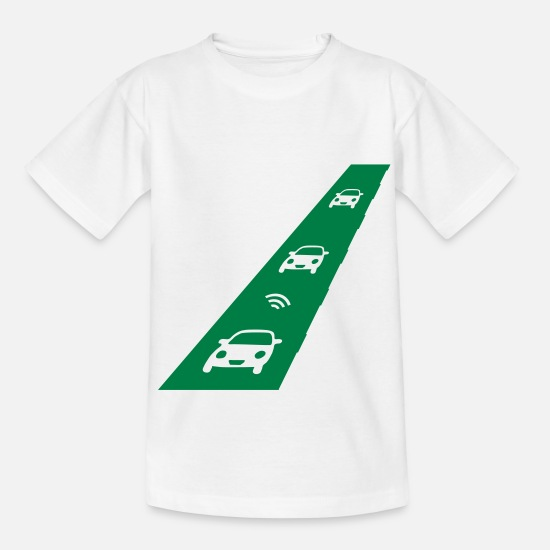 Wireless T-Shirts - elektrische_Straße_sa7 - Kinder T-Shirt Weiß