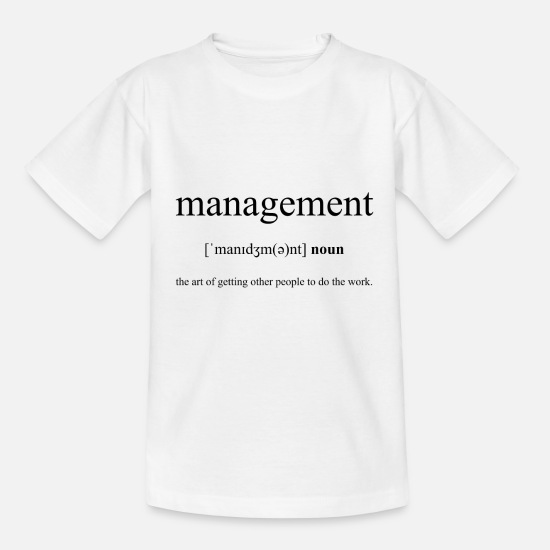 Manager T-shirts - Management (gestion) - T-shirt Enfant blanc
