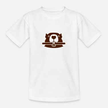 Biber Tier Biber - Kinder T-Shirt