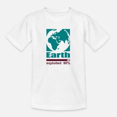 Exploitation Earth exploited - Kids' T-Shirt