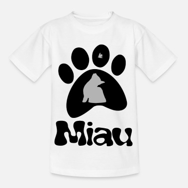 Le chat et le papillon - T-shirt Enfant