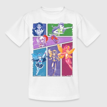 DC Super Hero Girls Super-Héroïnes Collage - T-shirt Enfant