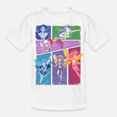 Officialbrands DC Super Hero Girls Superheldinnen Collage - Kinder T-Shirt