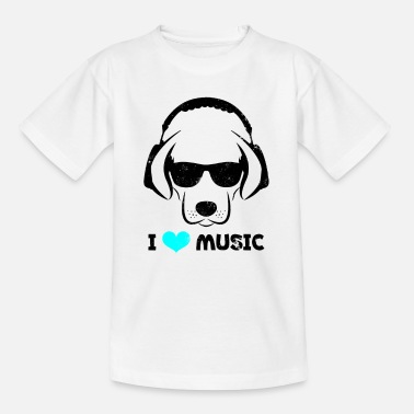 I Love Techno Edm Rave I Love Dance Music Dog Auriculares Regalo - Camiseta niño