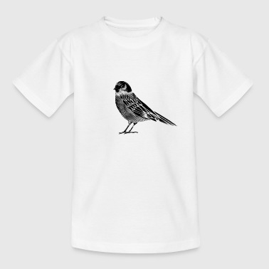 Black and white drawing of a bird - Kids' T-Shirt