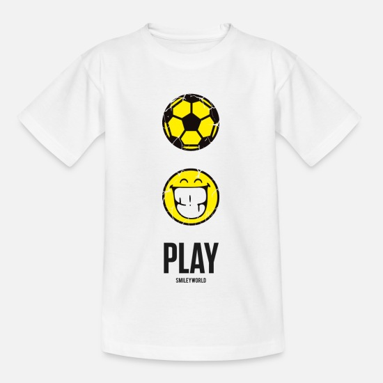 Jugar Camisetas - SmileyWorld PLAY Football - Camiseta niño blanco