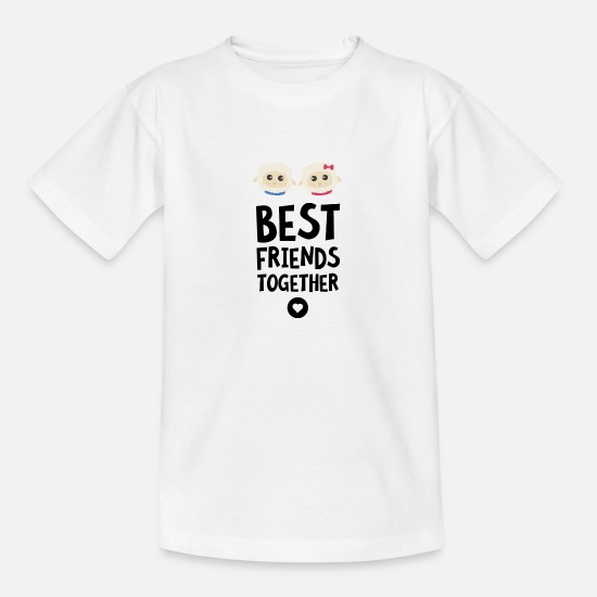 Love T-Shirts - Sheeps Best friends Heart S2fy6 - Kids' T-Shirt white