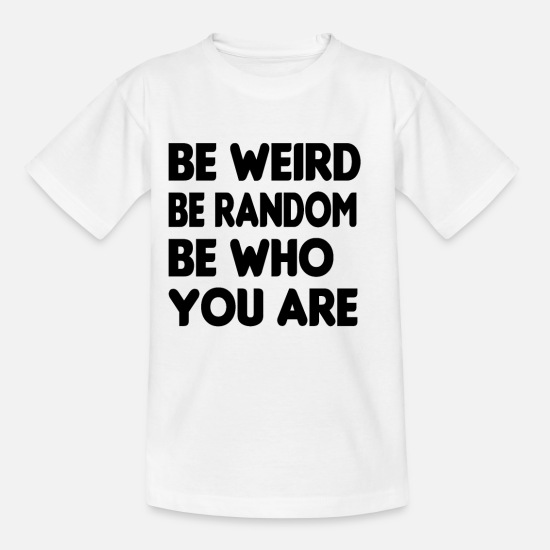 Inspiration T-Shirts - Be Who you Are lgbt - Kinder T-Shirt Weiß