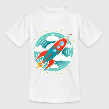 Retro rocket (circles) - Kids' T-Shirt