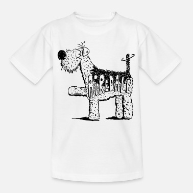 Terrier Comic Happy Airedale Terrier - Hund - Comic - Kinder T-Shirt